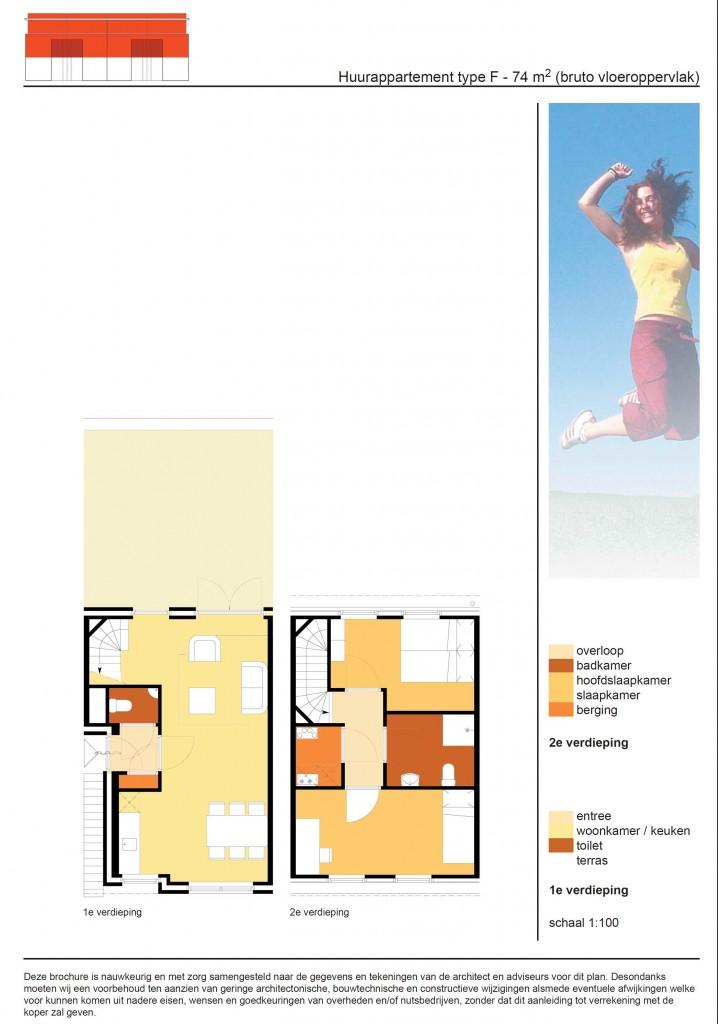 De Rips bovenappartement plattegrond impressie