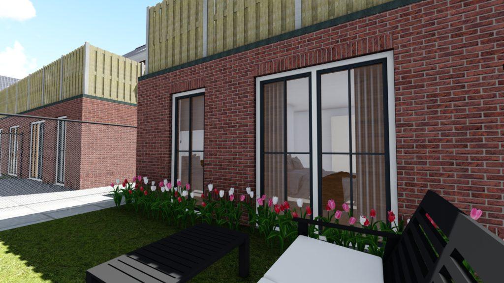 Onderappartement met tuin
